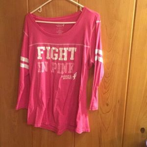 susan komen Tops - Ladies cotton 3/4 pink shirt
